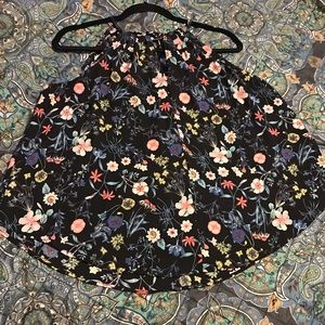 Tops - Floral spaghetti blouse